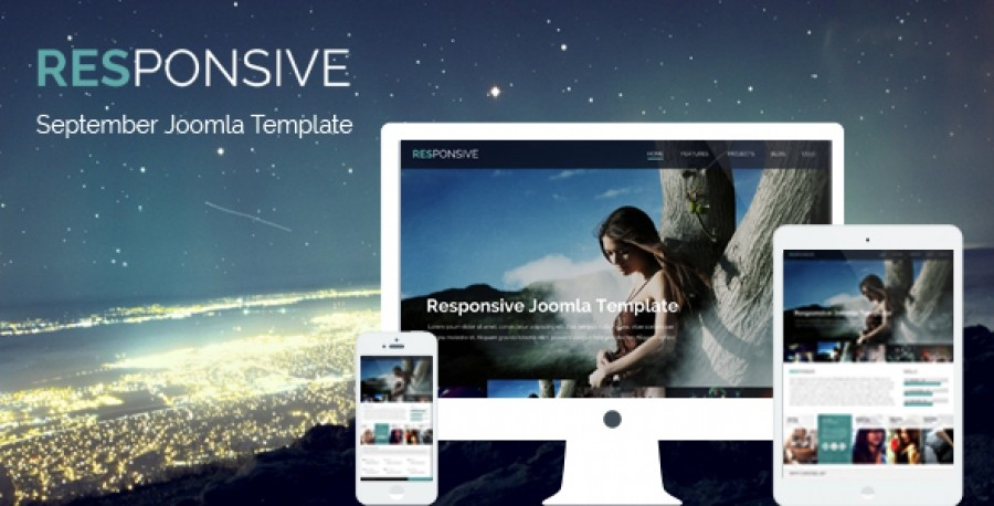 Responsive - September Joomla Template