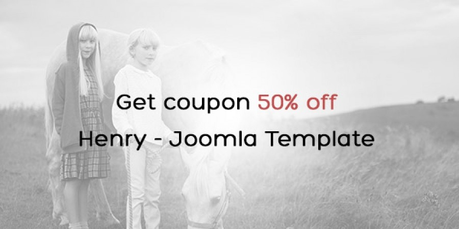Special Discounting 50% For Henry Joomla Template