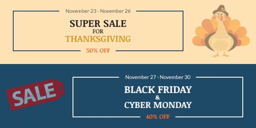Super Sale for Thanksgiving, Black Friday and Cyber Monday! Up to 50% Off on All Subscriptions