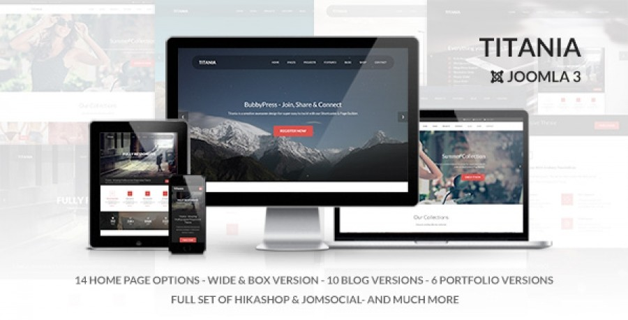 Titania-October Responsive Joomla Template in Preview