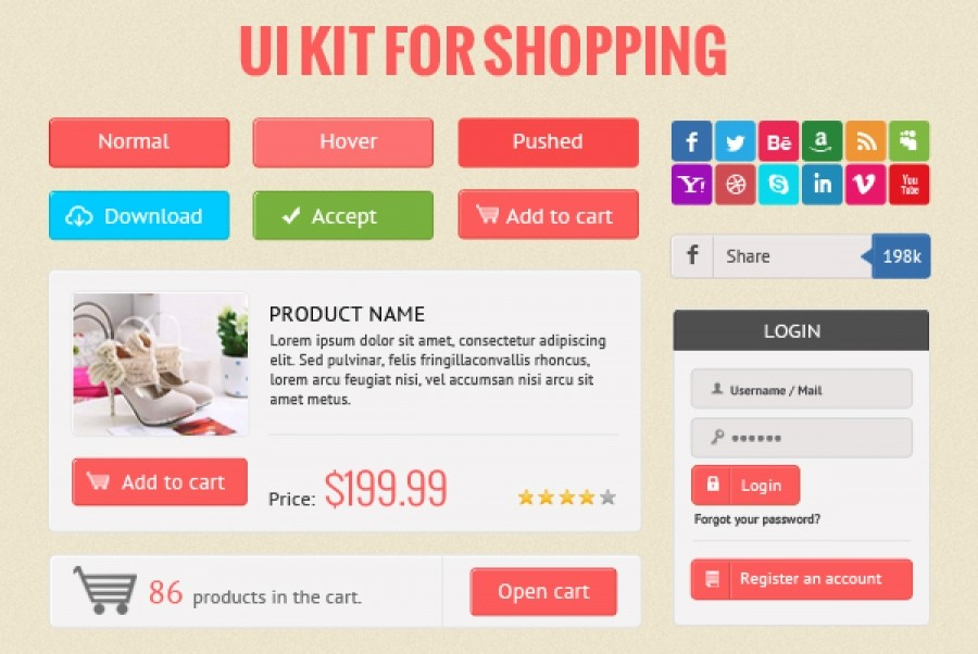 UI Shopping Kit