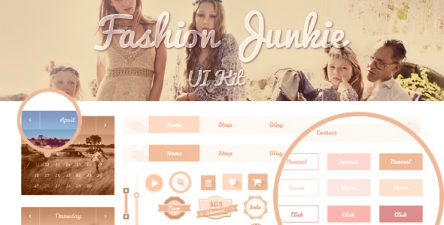 Fashion Junkie UI Kit