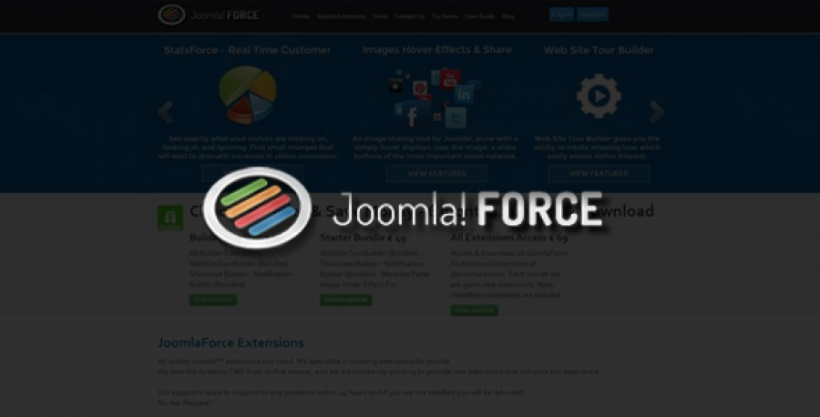 Coupon discount 20% for JoomlaForce products