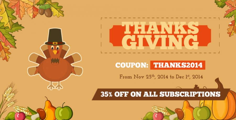 35 Off Thanksgiving Day Sale For All Subscription Packages Templaza Blog