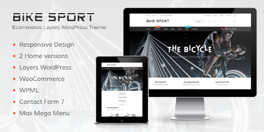 Bike Sport - Ecommerce Layers WordPress Theme