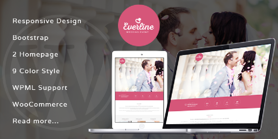 Everline Wedding WordPress Theme In Preview