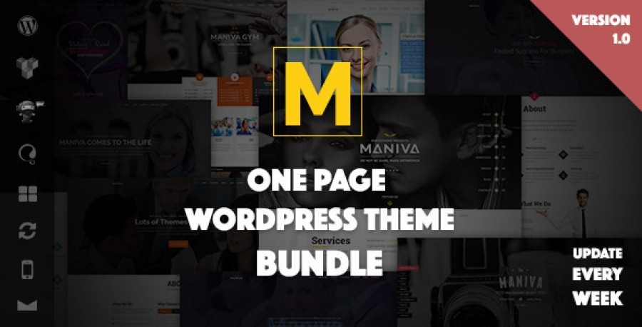 Maniva - Multipurpose One Page WordPress Theme