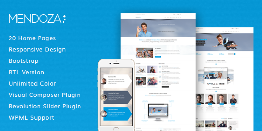 Mendoza Multipurpose WordPress Theme In Preview
