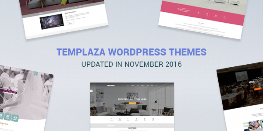 TemPlaza WordPress Themes Updated in November 2016