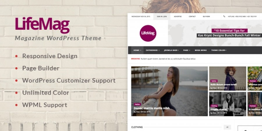 Upcoming Release - LifeMag Responsive Magazine WordPress Theme