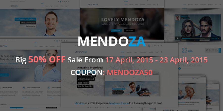 Big 50% OFF Sale For Mendoza Multipurpose WordPress Theme