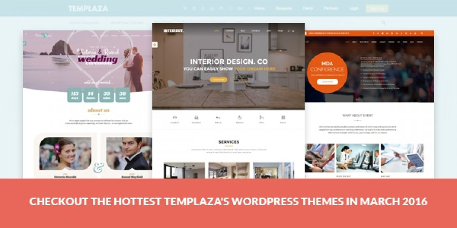Checkout The HOTTEST TemPlaza's WordPress Themes In March 2016