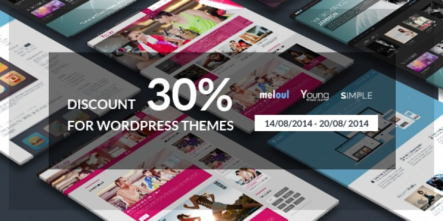 Discount 30% For WordPress Themes