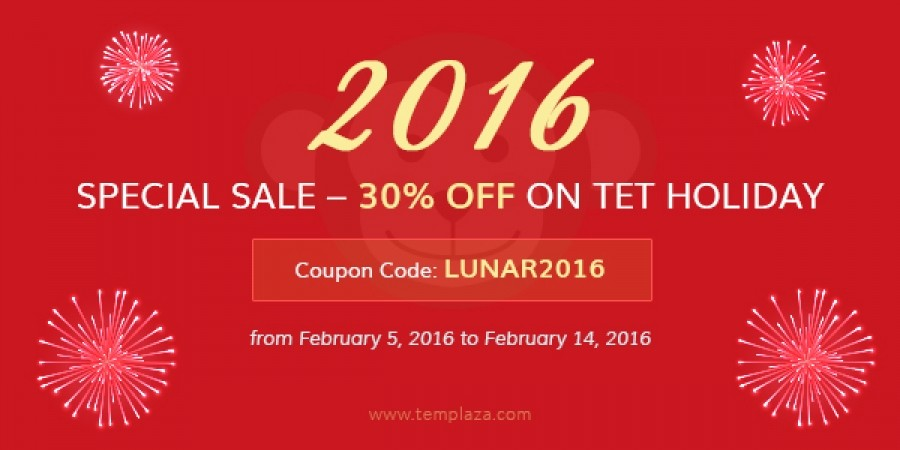 Special Sale - 30% OFF On Tet Holiday