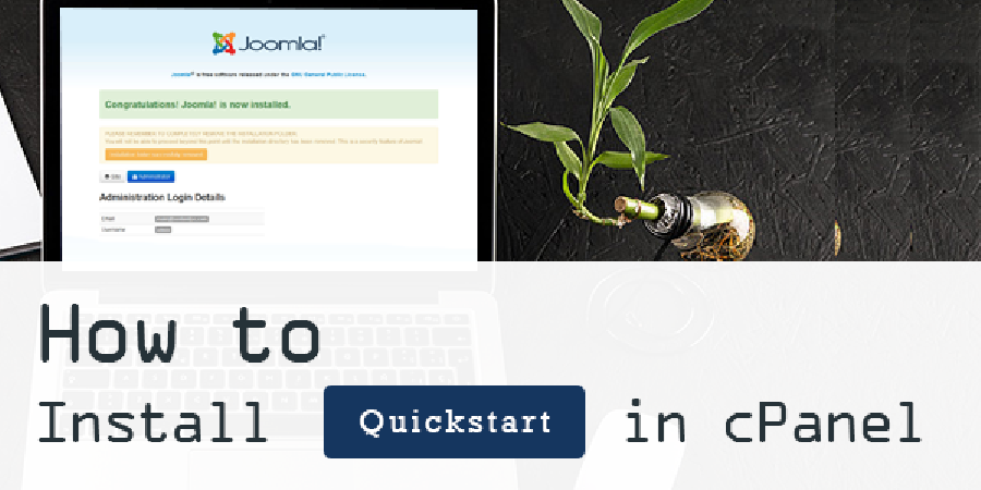 How To Install Joomla 3 Template With Quickstart Using