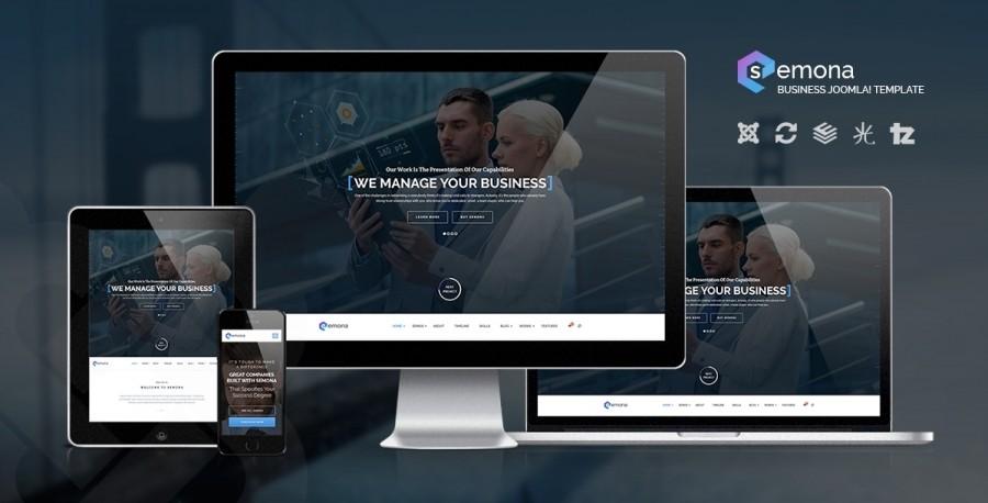 50% OFF on Semona - the LATEST Business Joomla Template