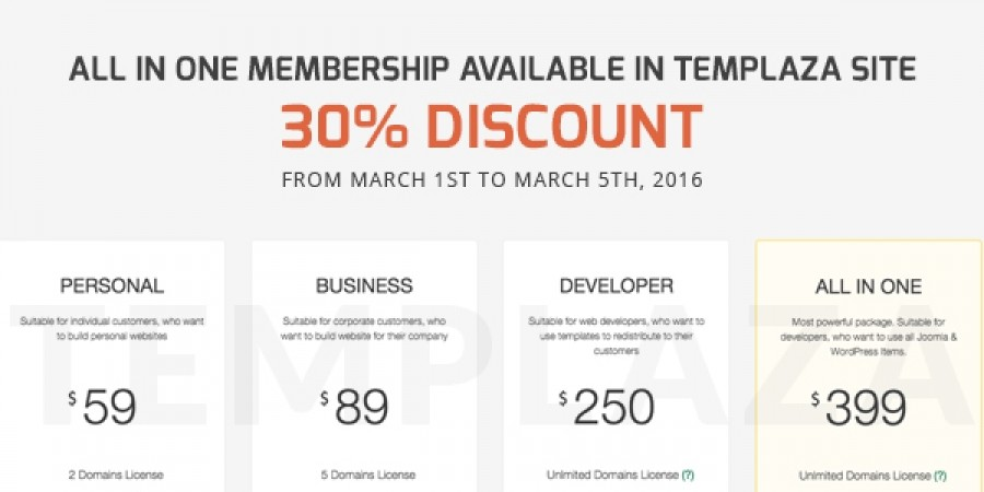 All-in-One Membership Available in TemPlaza Site Now