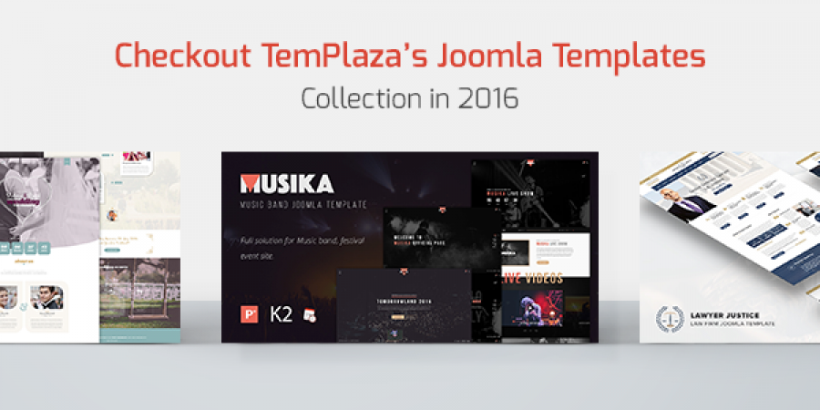 Checkout TemPlaza's Joomla Template Collection in 2016