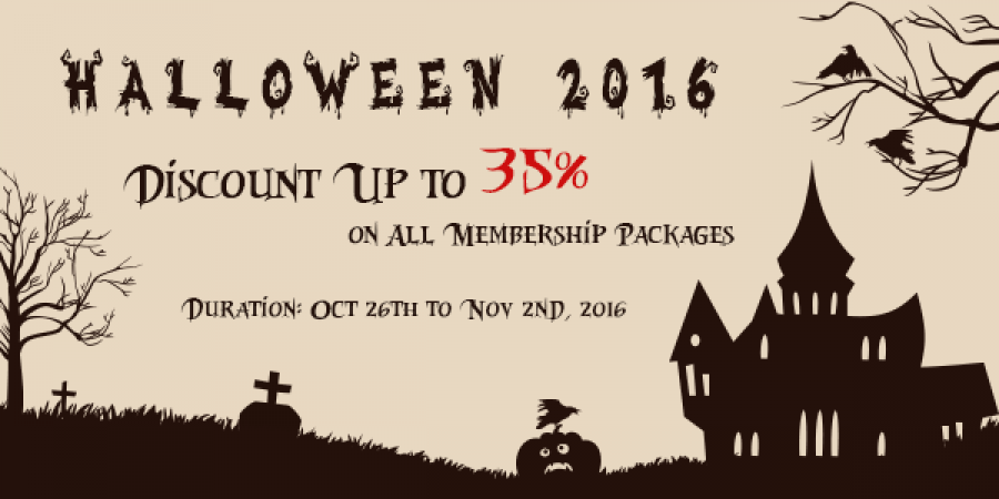 Happy Halloween! Save Up to 35% on All Membership Packages!