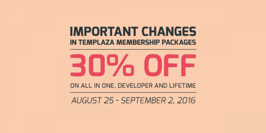 Important Changes in TemPlaza Membership Packages – 30% Discount