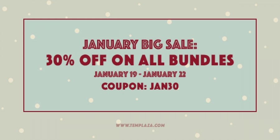 January BIG Sale: 30% OFF on All Bundles
