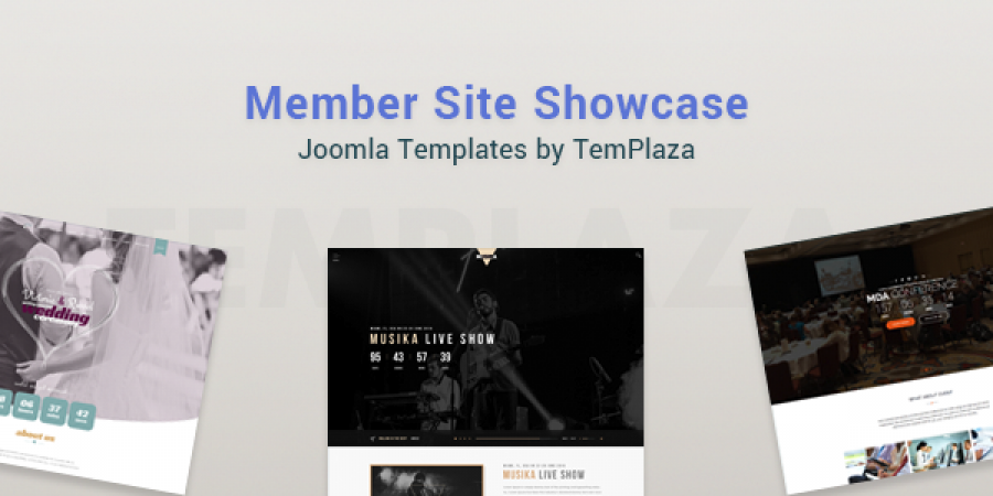 Joomla Templates by TemPlaza with Member Site Showcase