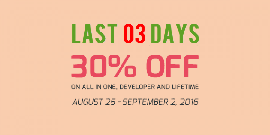 Last 03 Days to Get 30% OFF on Membership Packages