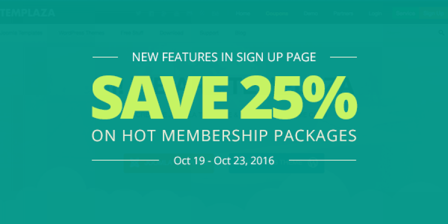 New Features in Sign Up Page – Save 25% on HOT Membership Packages