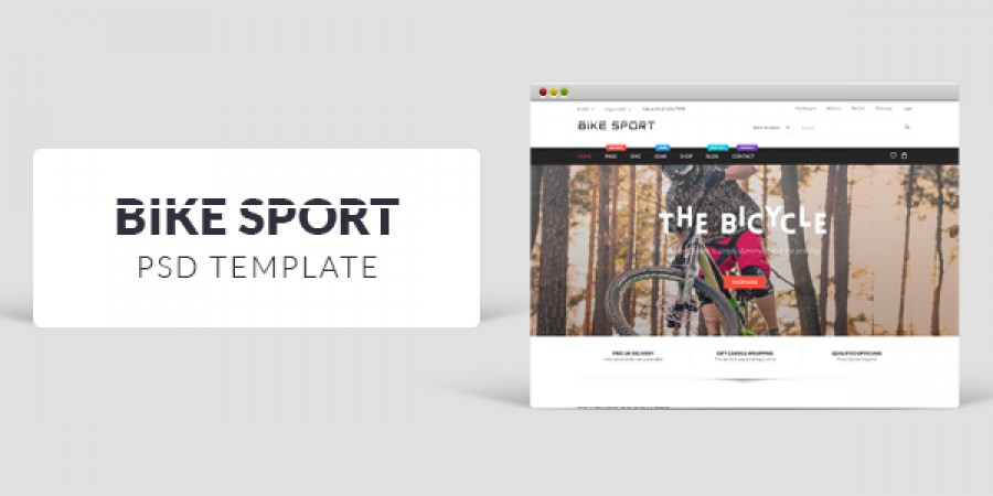 New Freebie: Bike Sport PSD Template