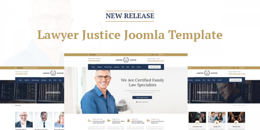 New Release: Lawyer Justice Joomla Template