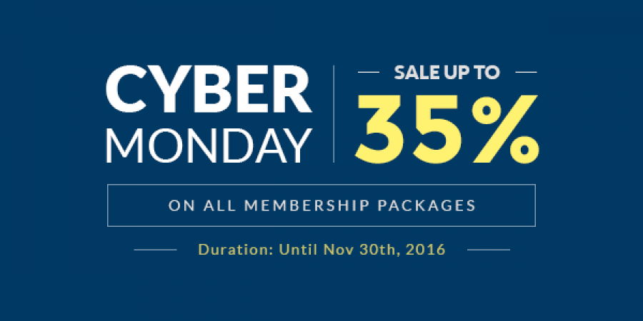 Save Up to 35% on ALL Membership Packages this Cyber Monday