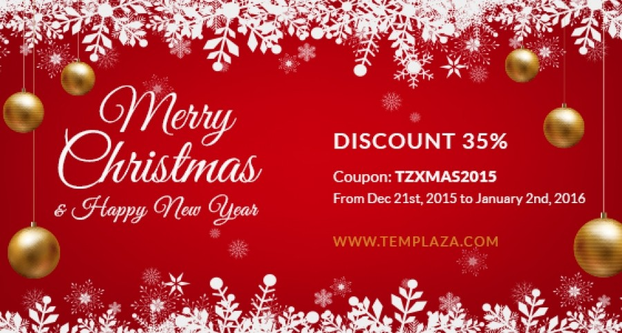 35% OFF for Xmas 2015 and New Year 2016