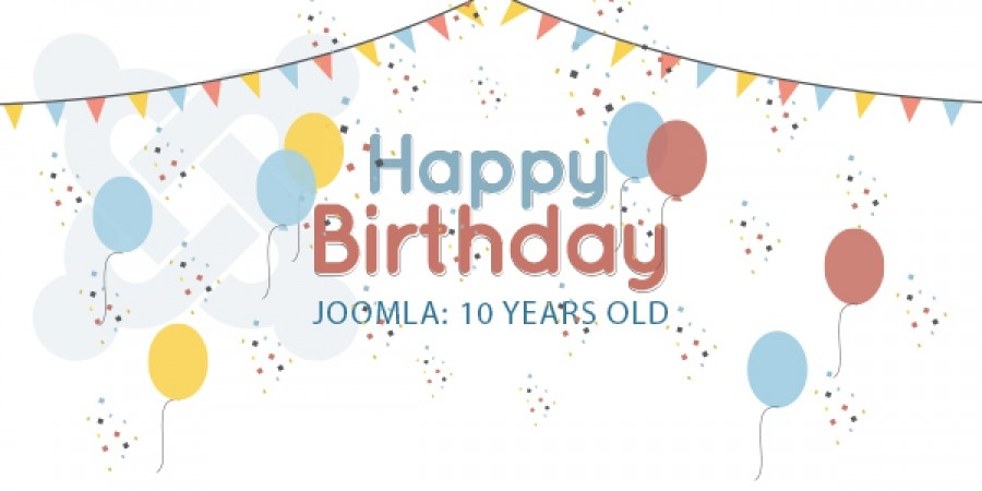 A collection of big sales for celebrating Joomla's 10th Birthday