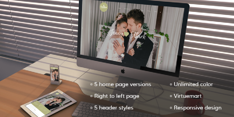 Everline Wedding Joomla Template-Here is exactly what you need