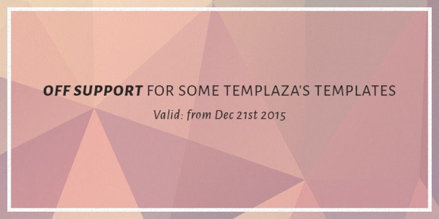 OFF Support for some TemPlaza's Joomla templates