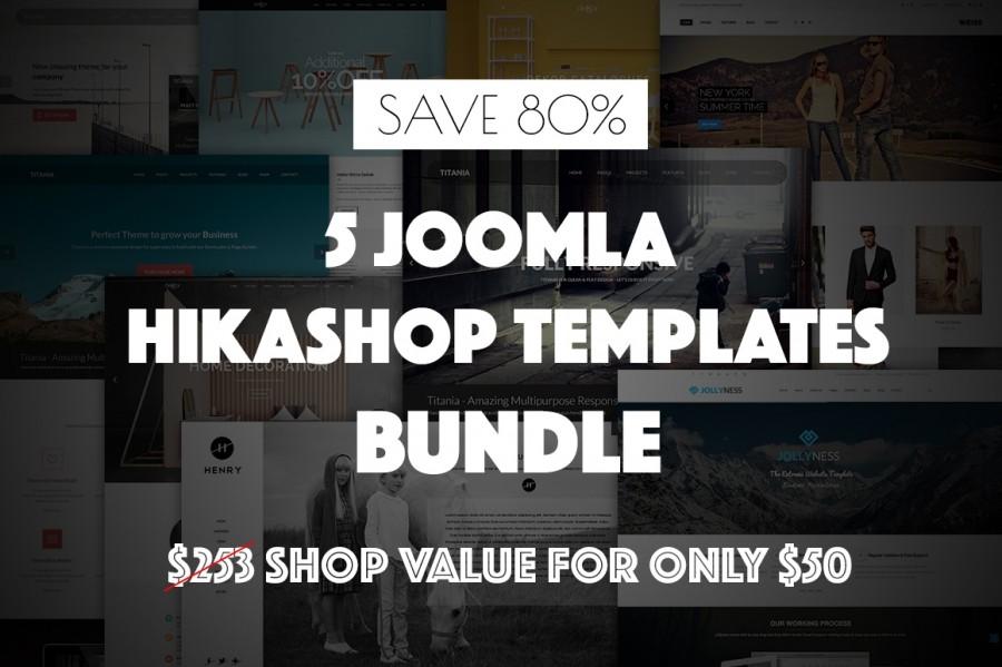 Save 80% on 5 Hikashop-Using Joomla Templates