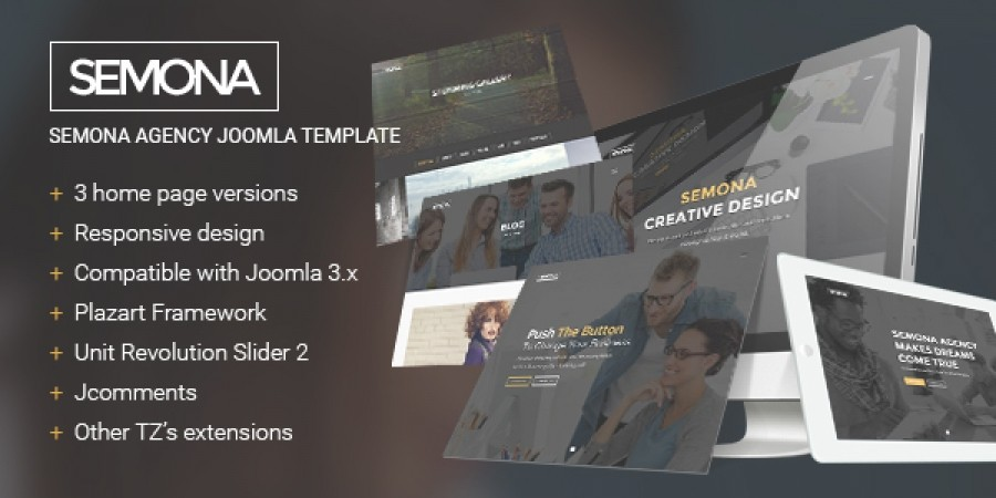 Semona Agency Joomla Template In Preview