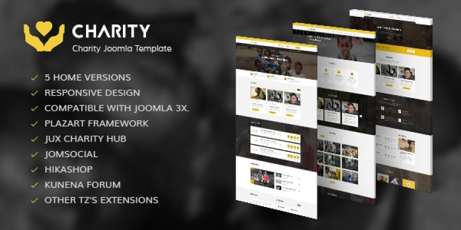 Charity Joomla! Template in Preview