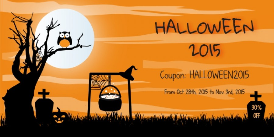 Halloween 2015: 30% Discount on All Subscriptions