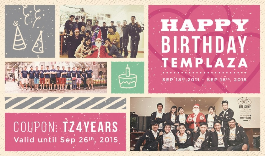 TemPlaza's 4th Birthday Celebration – 50% Discount for All Subscriptions
