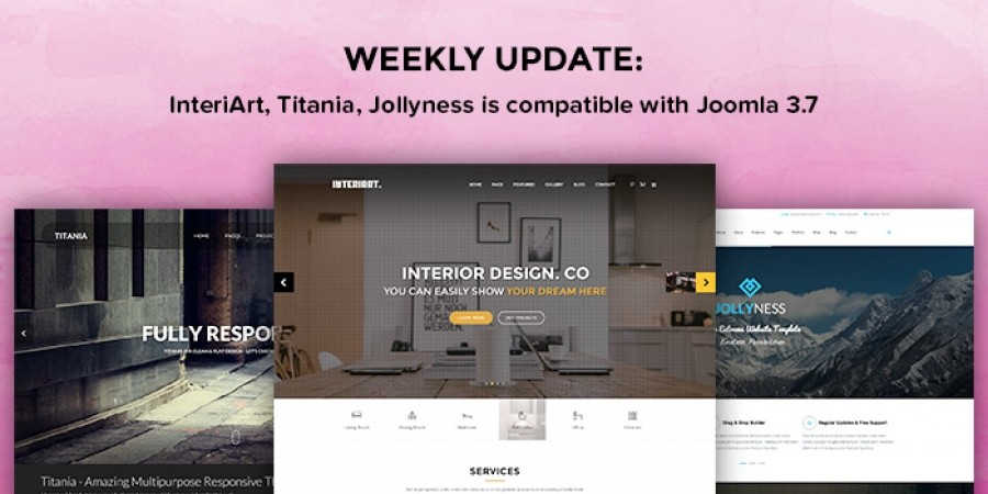 Weekly Update: 3 More Joomla Templates Updated for Joomla 3.7.x