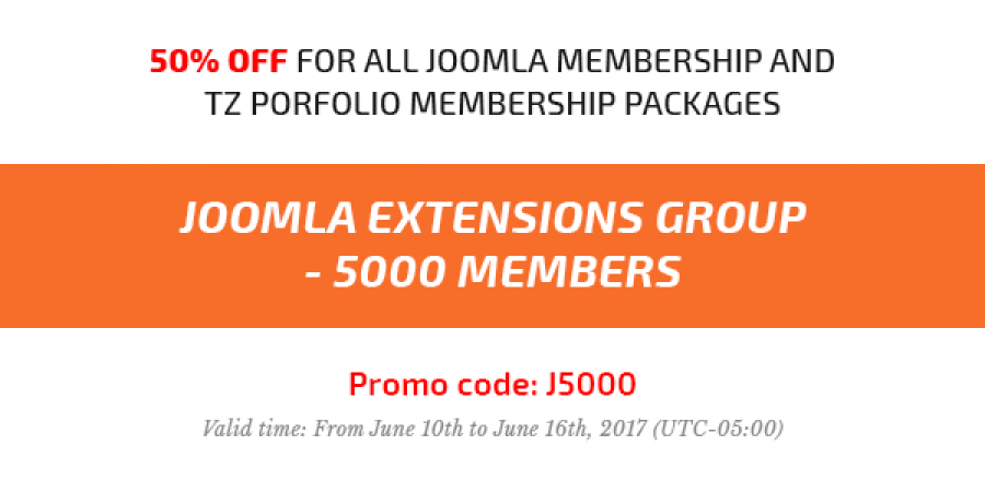 [50% OFF] Joomla Extensions Group grows up 5000 Members