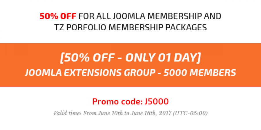 [50% OFF - Only 01 Day] Joomla Extensions Group Grow Up 5000 Members