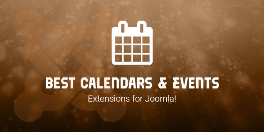 Best Calendars & Events Extensions for Joomla!