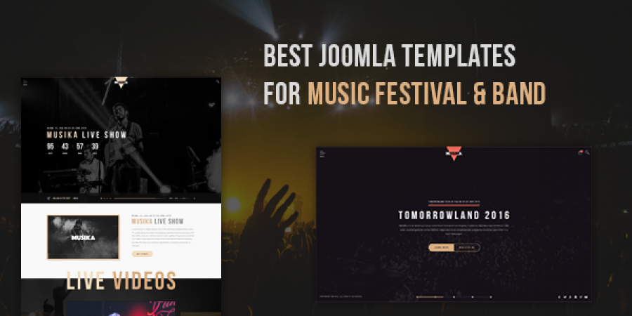 Best Joomla Templates for Music Festival & Band