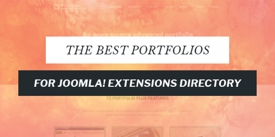 Best Portfolio Extensions for Joomla!