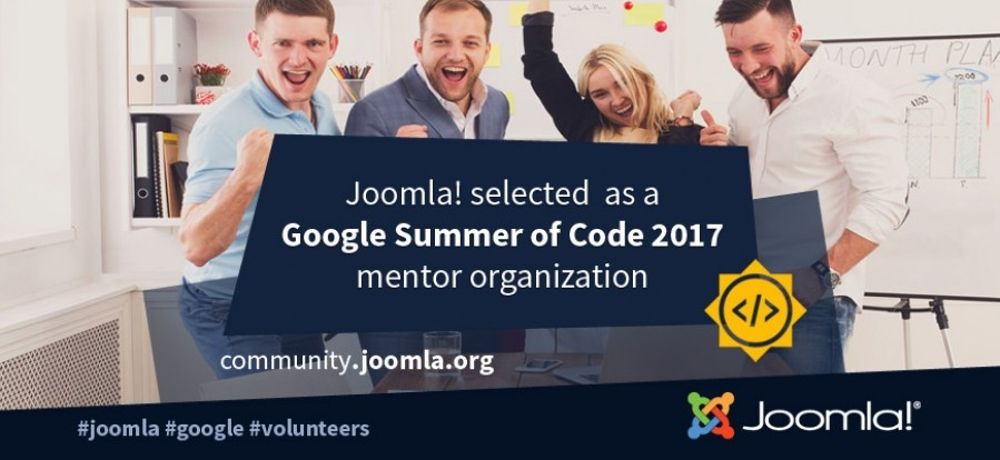 Joomla! Accepted for Google Summer of Code 2017!