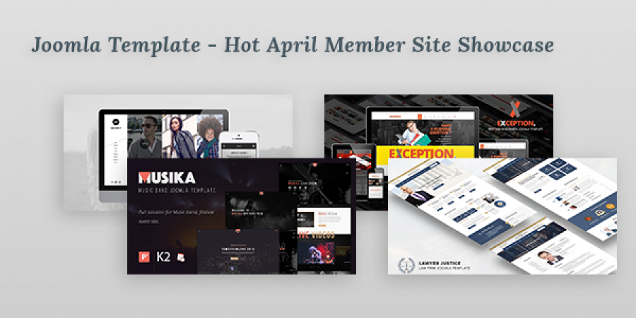 Joomla Template - Hot April Member Site Showcase