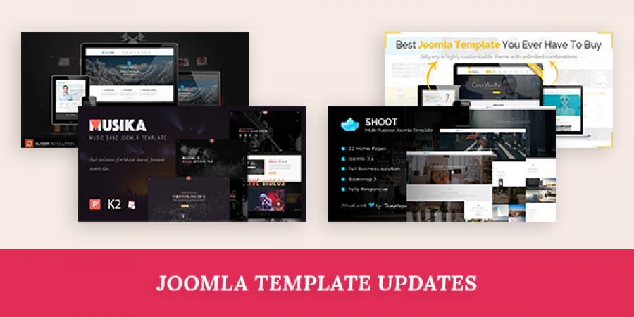 Joomla template updates