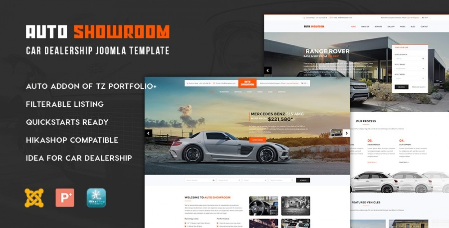 New Release: Auto Showroom - Car Dealership Joomla Template